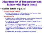 measurement of temperature and salinity with depth cont