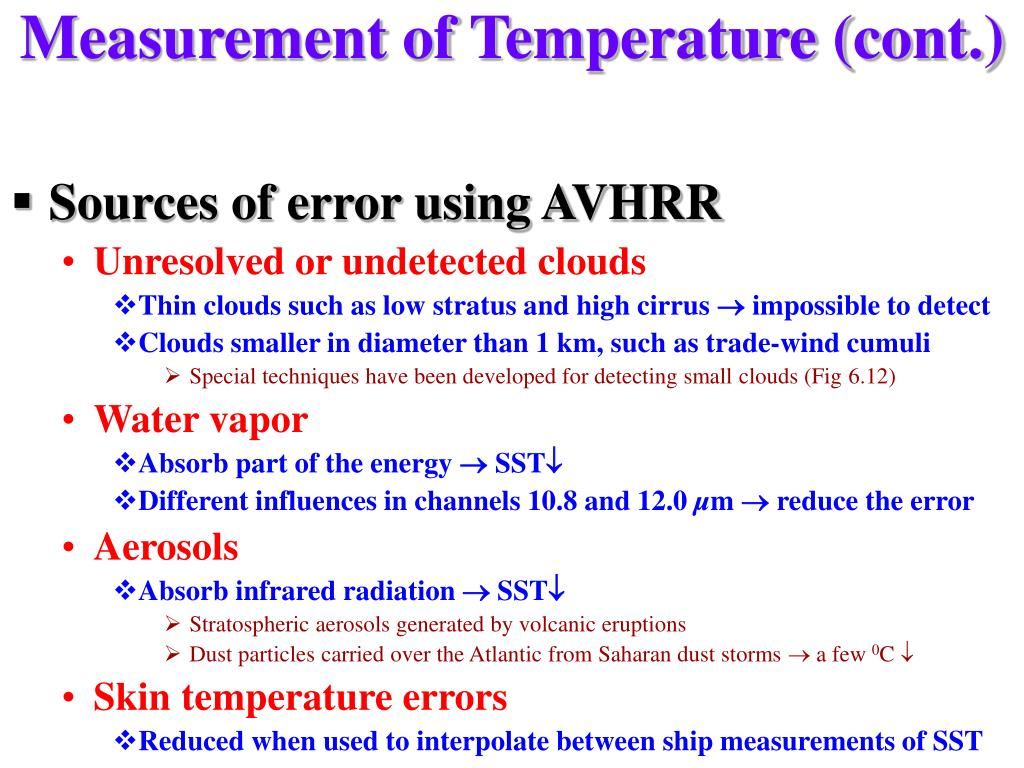 Measurement of Temperature (cont.)