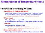 measurement of temperature cont21
