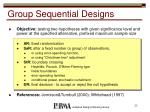 group sequential designs