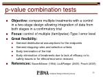 p value combination tests39