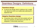 seamless designs definitions