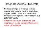 ocean resources minerals