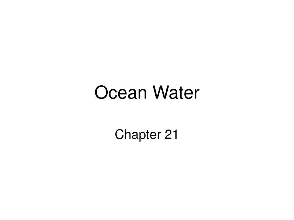 ocean water l.