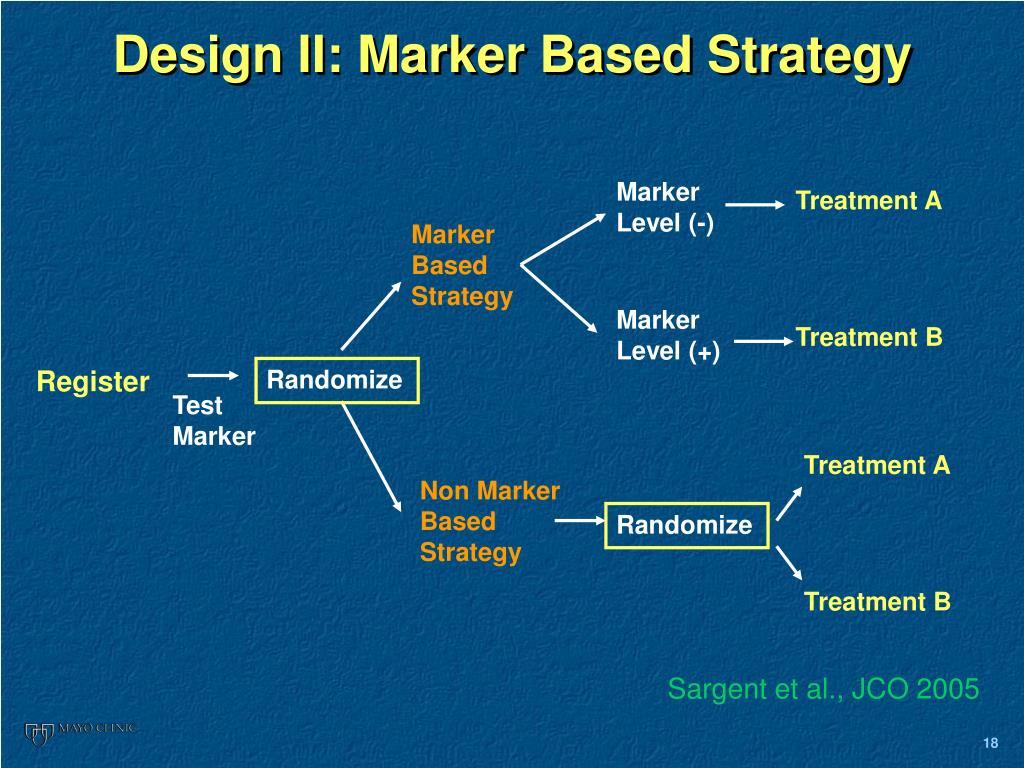 Design II: Marker Based Strategy