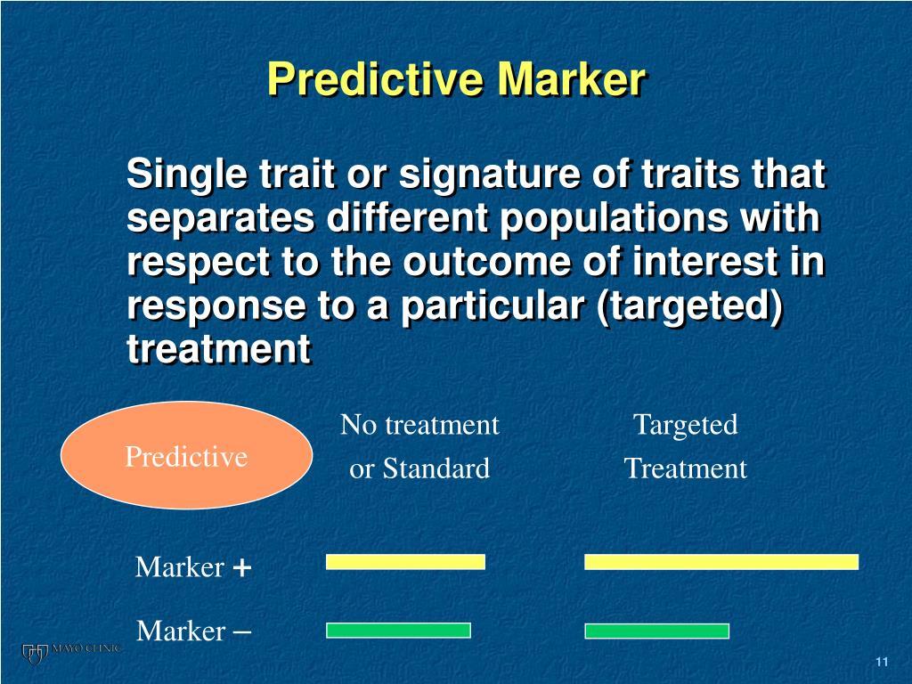 Predictive Marker