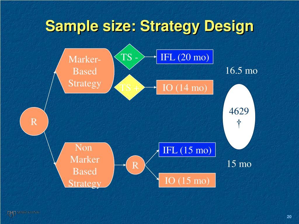 Sample size: Strategy Design