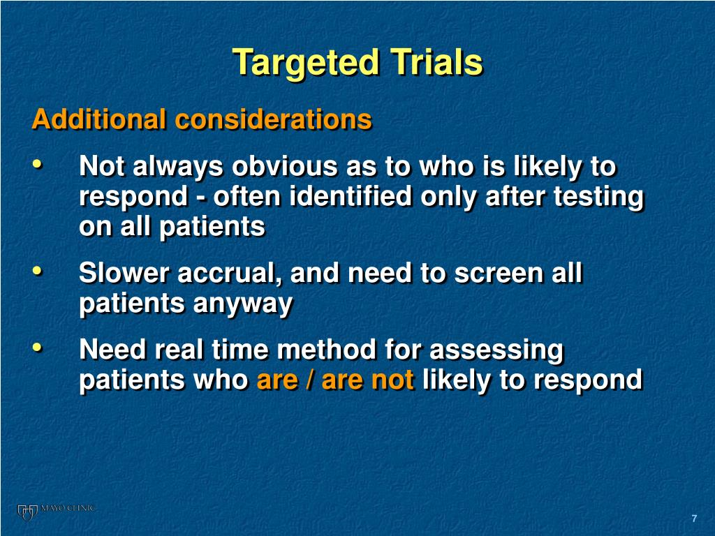 Targeted Trials
