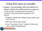 a few ecd cases to consider34
