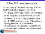 a few ecd cases to consider39