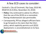 a few ecd cases to consider40