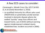 a few ecd cases to consider41