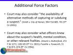 additional force factors