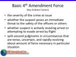basic 4 th amendment force key graham factors