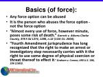 basics of force