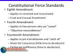 constitutional force standards