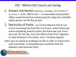 icd where the courts are going