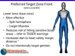 preferred target zone front when possible