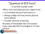 quantum of ecd force24