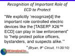 recognition of important role of ecd to protect