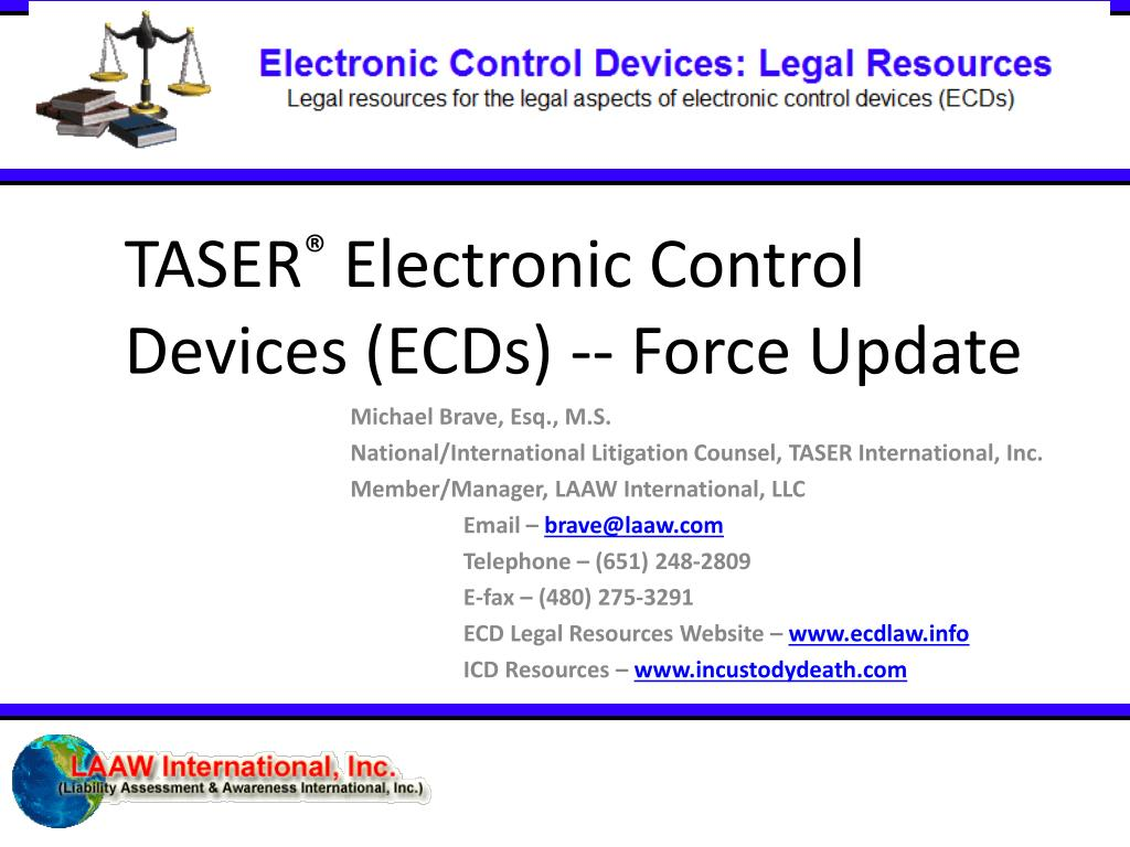 taser electronic control devices ecds force update l.