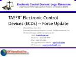 taser electronic control devices ecds force update