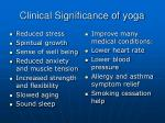 clinical significance of yoga