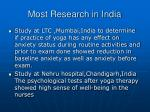 most research in india