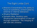 the eight limbs cont7