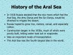 history of the aral sea