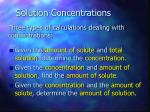 solution concentrations41