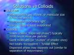 solutions vs colloids