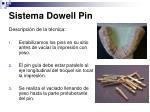 sistema dowell pin11
