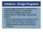 initiative bridge programs