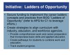 initiative ladders of opportunity
