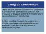 strategy c2 career pathways
