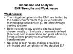 discussion and analysis emp strengths and weaknesses33