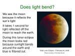does light bend
