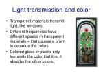 light transmission and color
