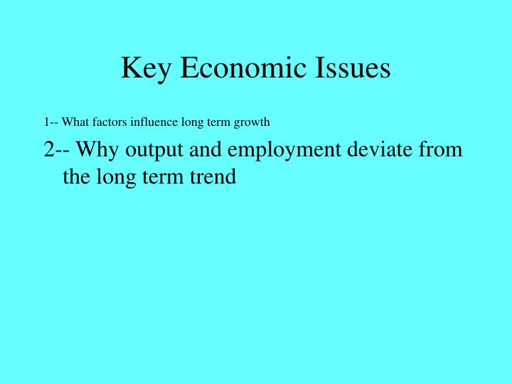 Key Economic Issues