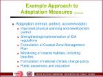 example approach to adaptation measures continued44