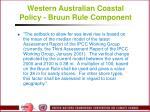 western australian coastal policy bruun rule component