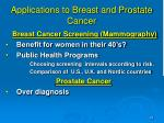 applications to breast and prostate cancer