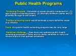 public health programs