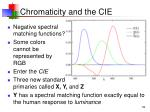 chromaticity and the cie