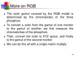 more on rgb
