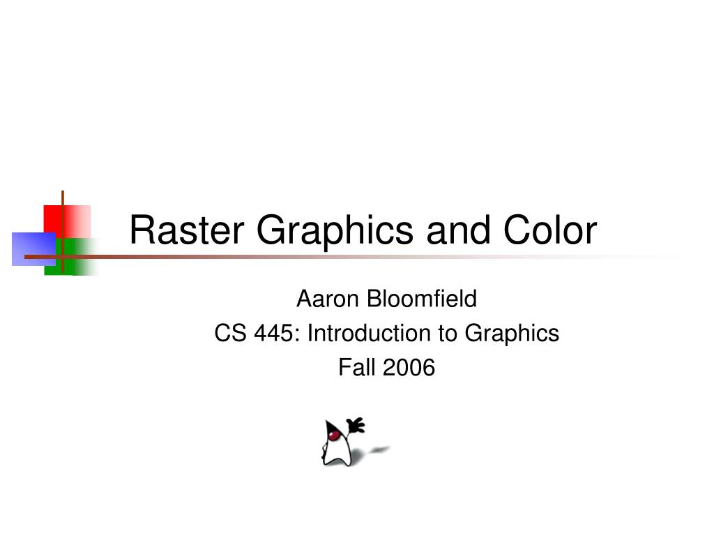 raster graphics and color l.