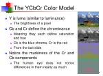 the ycbcr color model