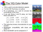the yiq color model
