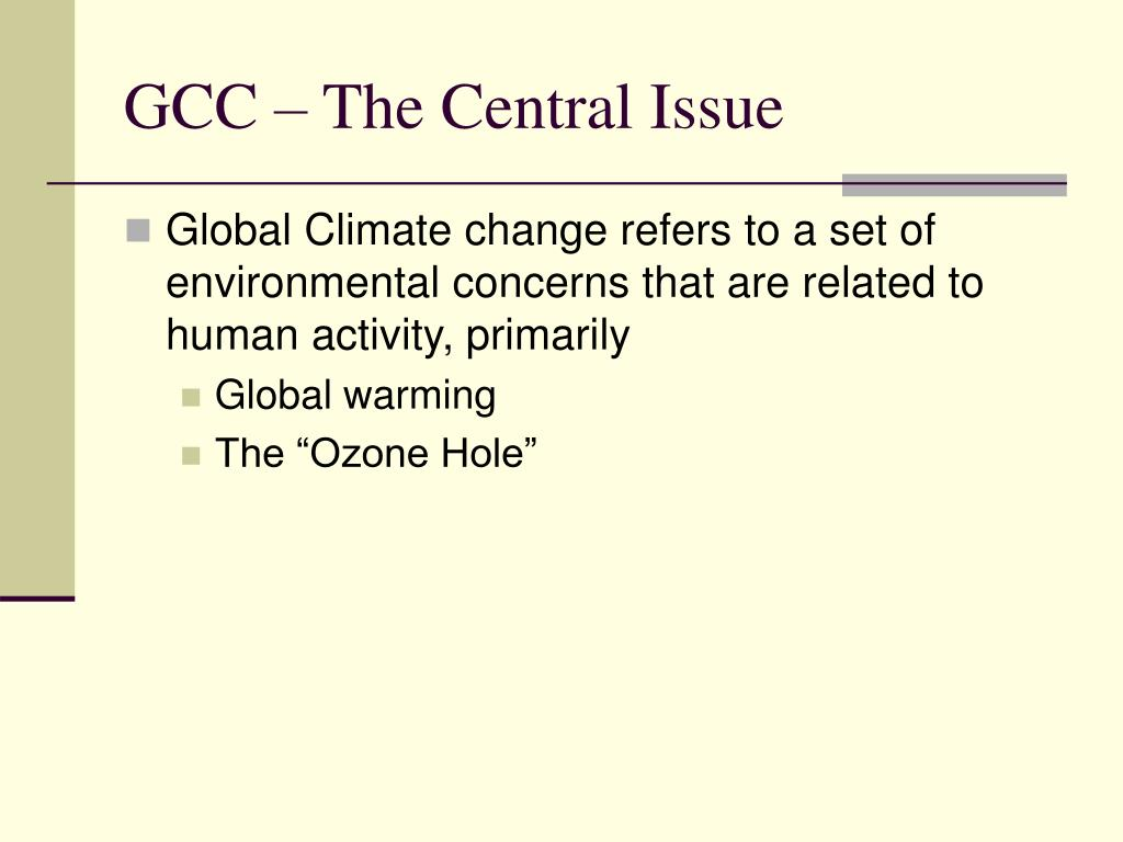 GCC – The Central Issue